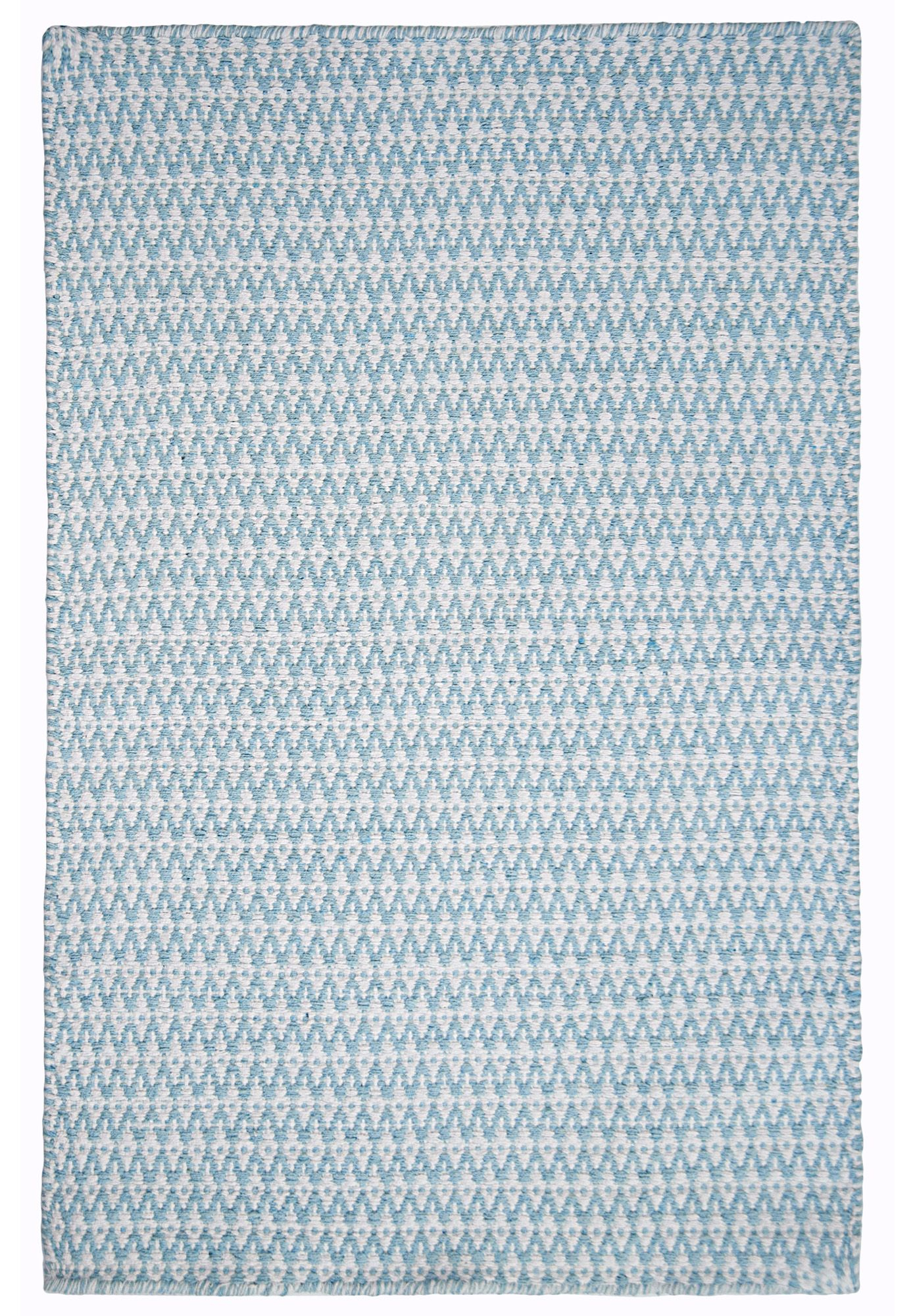 Hookandloom Ashley Eco Cotton Rug Light Blue White