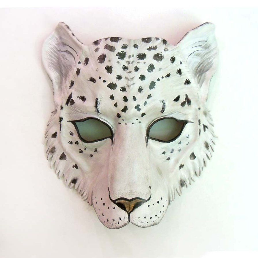 Snow Leopard Leather mAsk | Masks | Pinterest | Leather mask, Snow ...