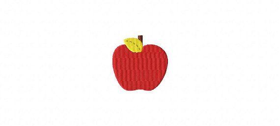 Apple Mini Made To Match Filled Stitch Machine Embroidery Design