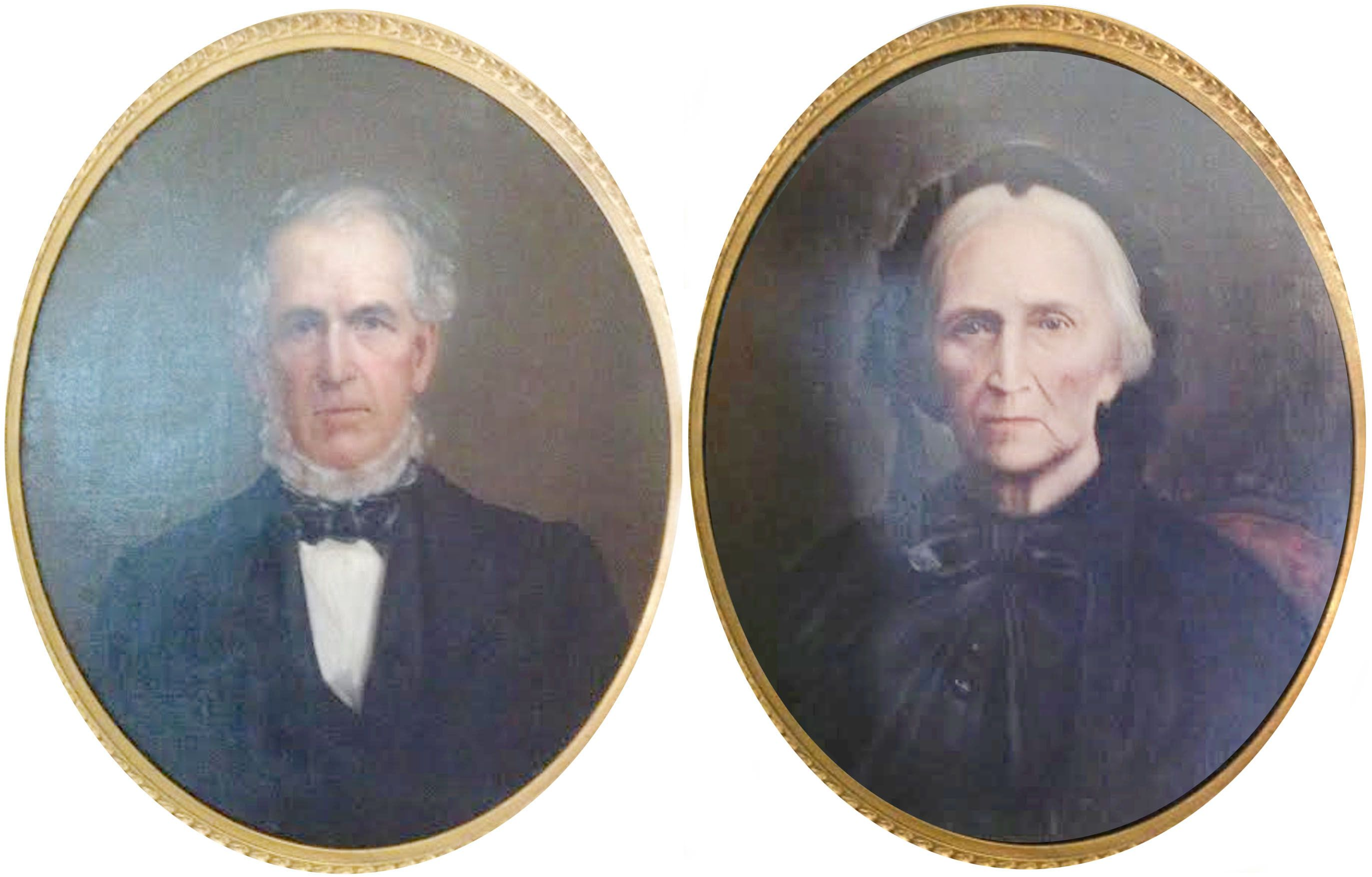 Oil portraits from the 1840's in Springfield, Sangamon Co IL. My 4x Great Grandparents!!! William Caldwell b. 1779 Nanesmond Co VA and dec. 1844 Sangamon Co IL married Feb 7, 1804 Nancy RoBards b. 1782 Goochland Co VA and dec. 1858 Sangamon Co IL