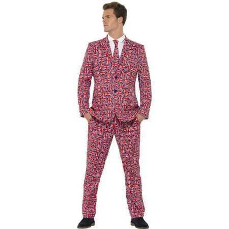 MENS MOUSTACHE STAND OUT SUIT GREY STAG DO NIGHT FANCY DRESS COSTUME OUTFIT