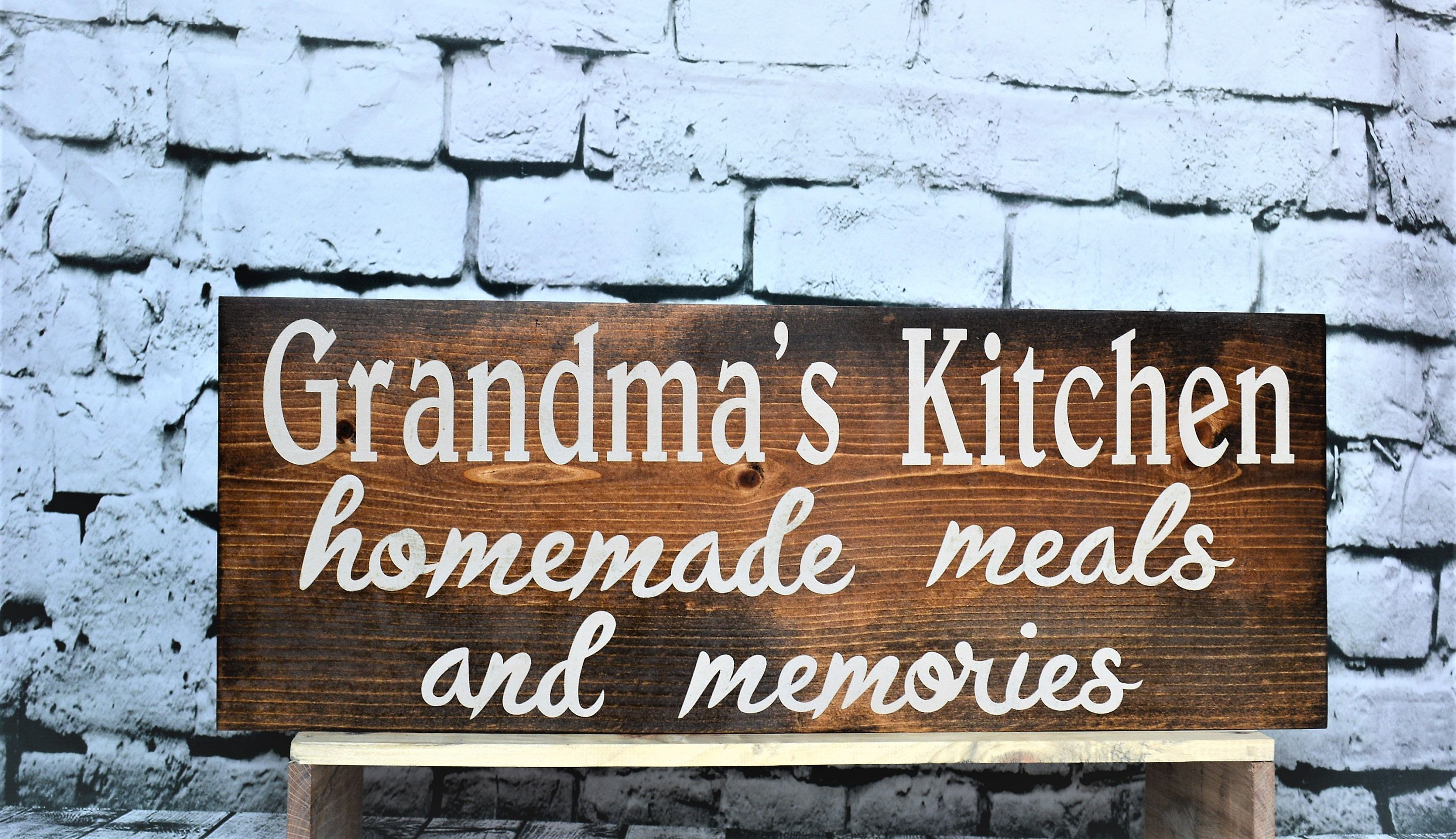 photo regarding Homemade Signs Ideas named Custom made Grandma Indicator, Moms working day reward principle, selfmade