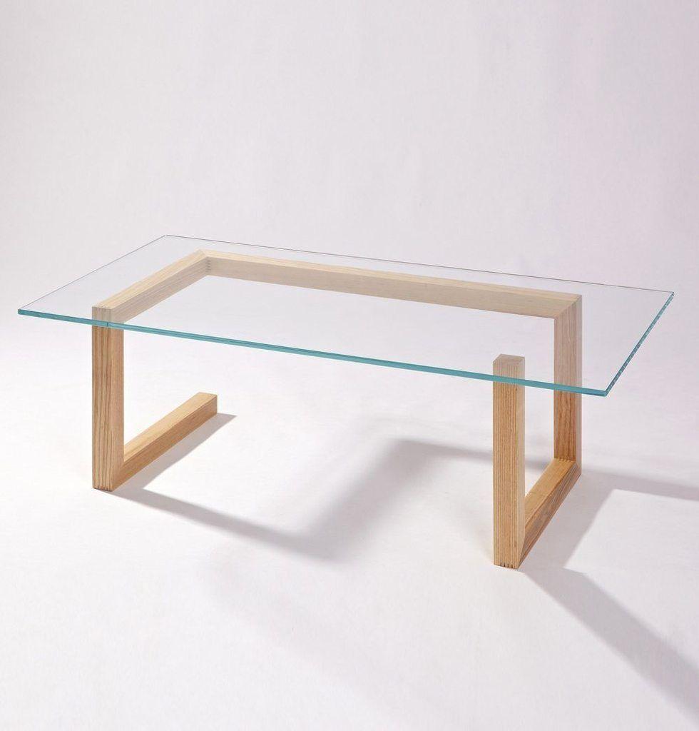 Table Basse Mia Verre Bois Table Basse Verre Et Bois Table