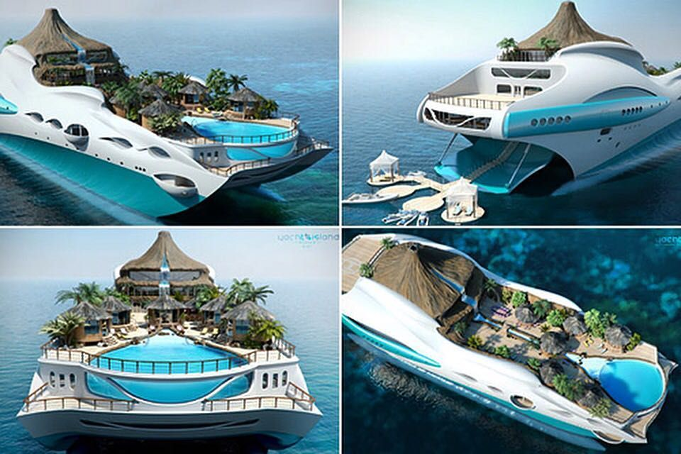 Delightful Over The Top Tropical Floating Island Is A Fantasy Dreamed Up By Yacht  Island Design, Which Planned It As A Private Luxury Yacht To Accommodate 10  Guests ...