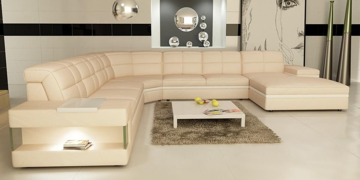 vig divani casa 6130 modern cream and white bonded leather sectional rh pinterest co uk