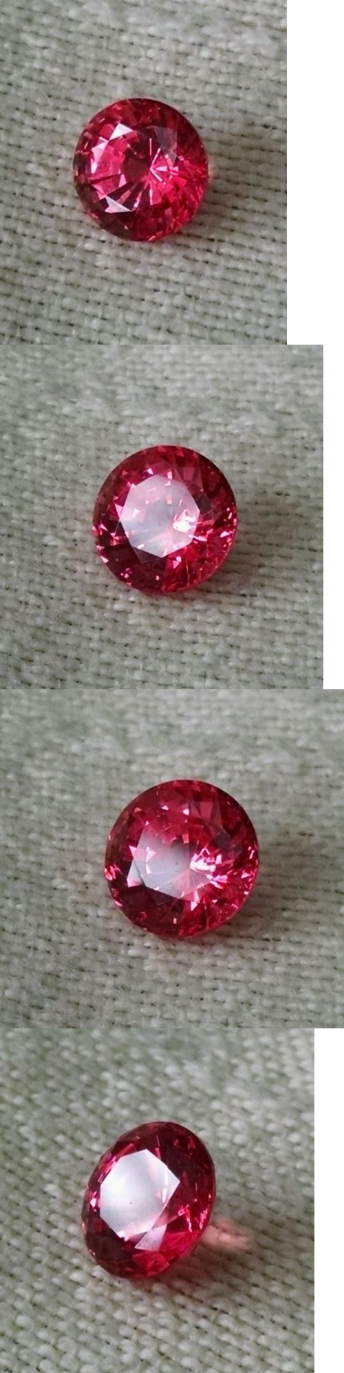 739f6b05ed6 Lab-Created Sapphires 122958  8Mm Round Chatham Tm Brand Synthetic Flux Lab  Created Padparadscha Gemstone BUY IT NOW ONLY   500.0