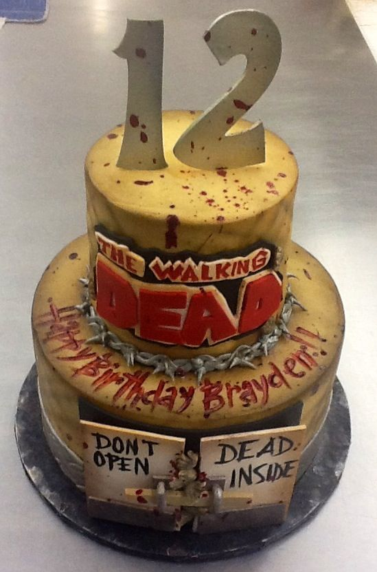 Walking Dead Birthday Cake at Sweet Boutique Cakes Cake Witch