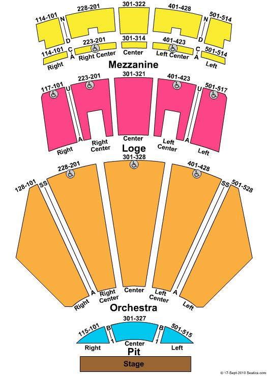Microsoft Theater La Live Living In Seating Charts