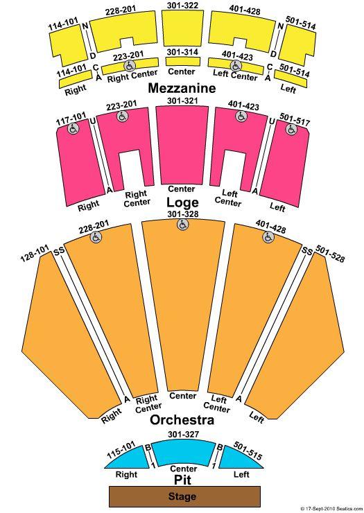 microsoft theater la live theater seating chart pinterest