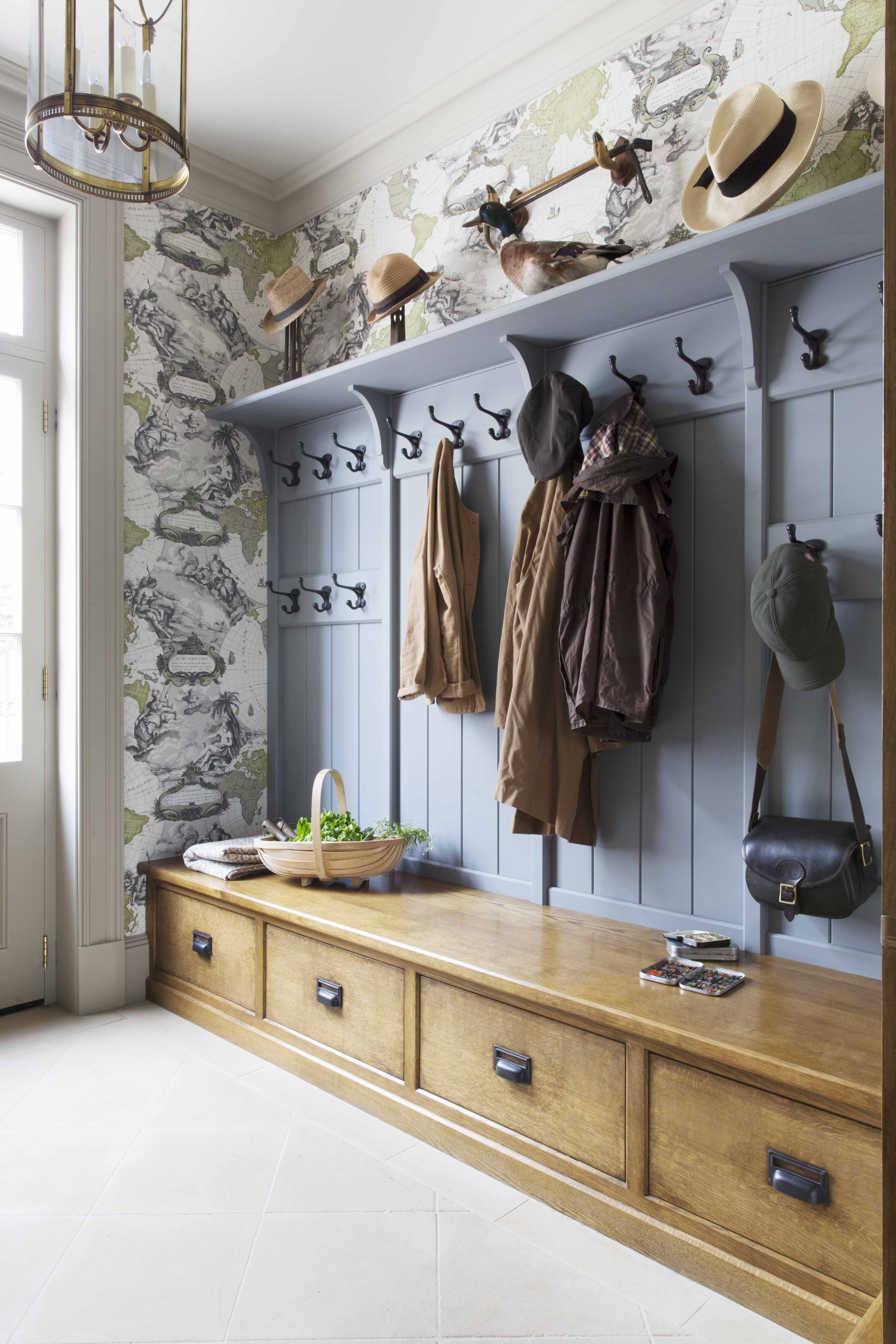 Painted And Timber Traditional Period Boot Room Designed