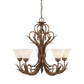 5-Light Brooster Bronze Chandelier, $484