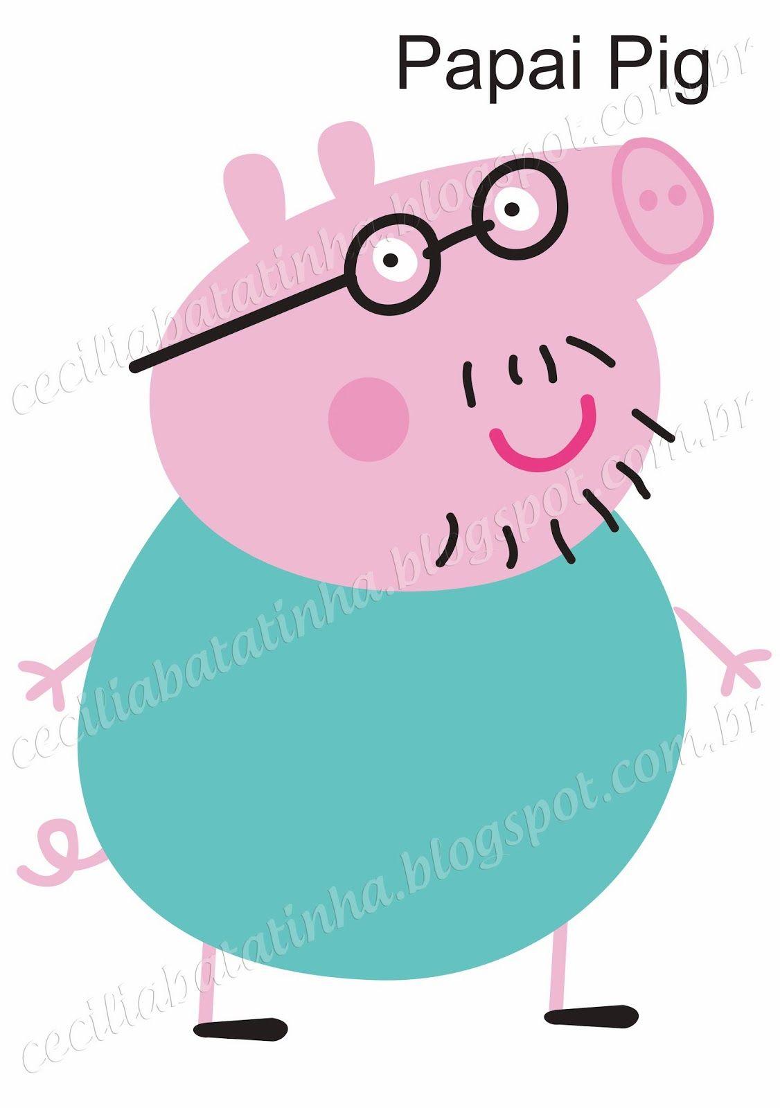 Cecília... Sou dela, sem ela não sou...: Atendendo a pedidos - Moldes Peppa Pig e sua turma