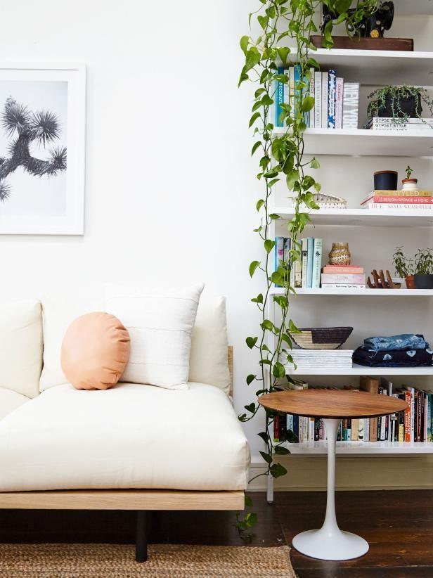 tour a couple's hip new york apartment  living room