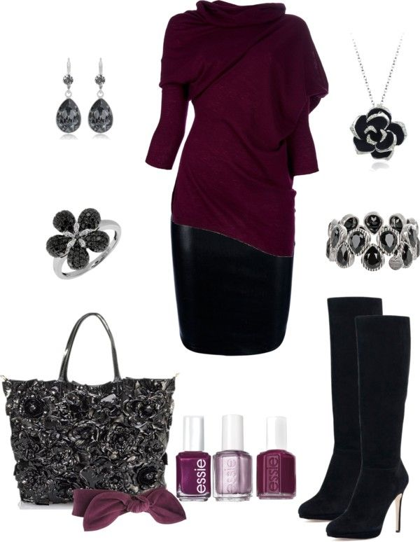 """""""Pretty in Plum Outfit"""" by mgfrias ❤ liked on Polyvore"""