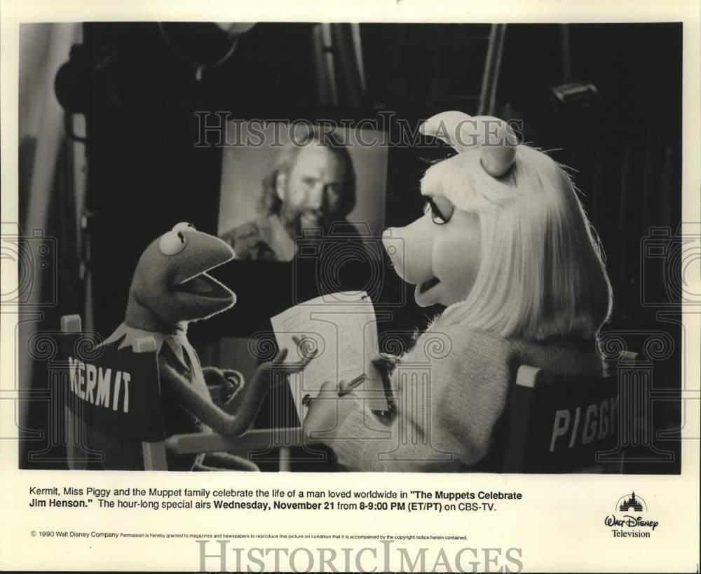 1990 Press Photo The Muppet Family Celebrates The Life Of