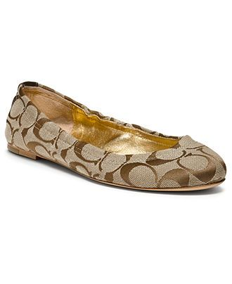 6e0ae5e4e COACH ALY FLAT - Coach Shoes - Handbags   Accessories - Macys ...