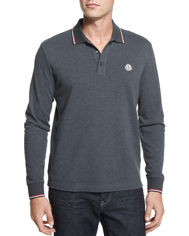 8ac0aeef8 Tipped Long-Sleeve Polo Shirt