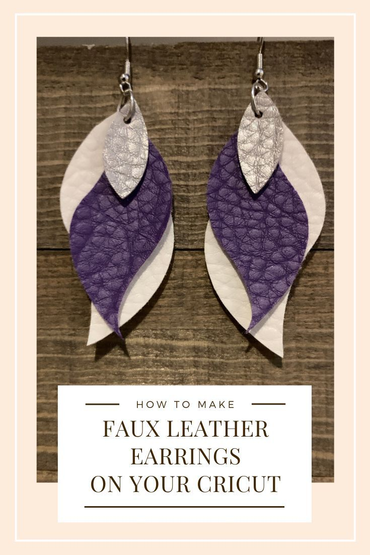 Photo of These faux leather earrings are easy to make. I love them because you can match …