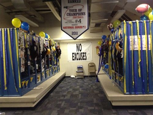 Senior Week Locker Room Decorations Football Locker Decorations Locker Decorations