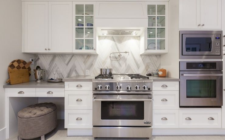 Love It Or List It Beautiful Kitchen Features White Cabinets Paired With Caesarstone Stone Gray