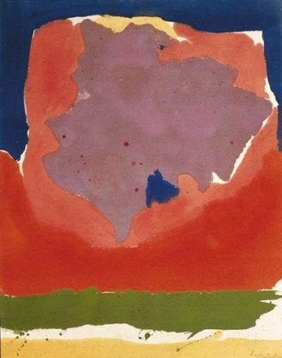 "topcat77: "" Helen Frankenthaler Dusk """