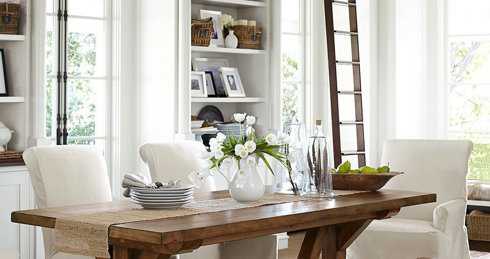 7 Ways To Decorate With White  For The Home  Pinterest Impressive Dining Room Sets Pottery Barn Design Decoration
