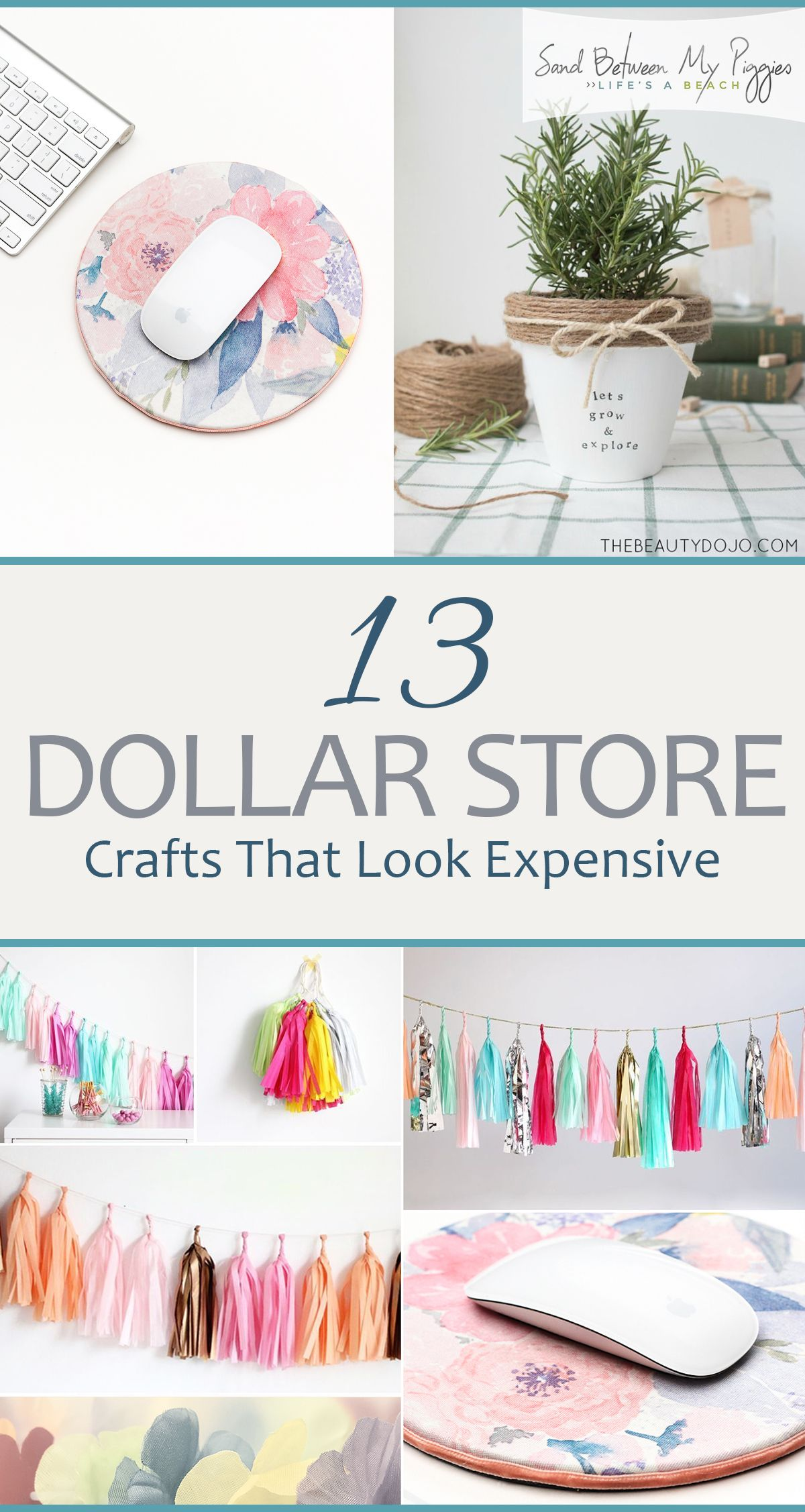 13 Dollar Store Crafts That Look Expensive #craftstosell
