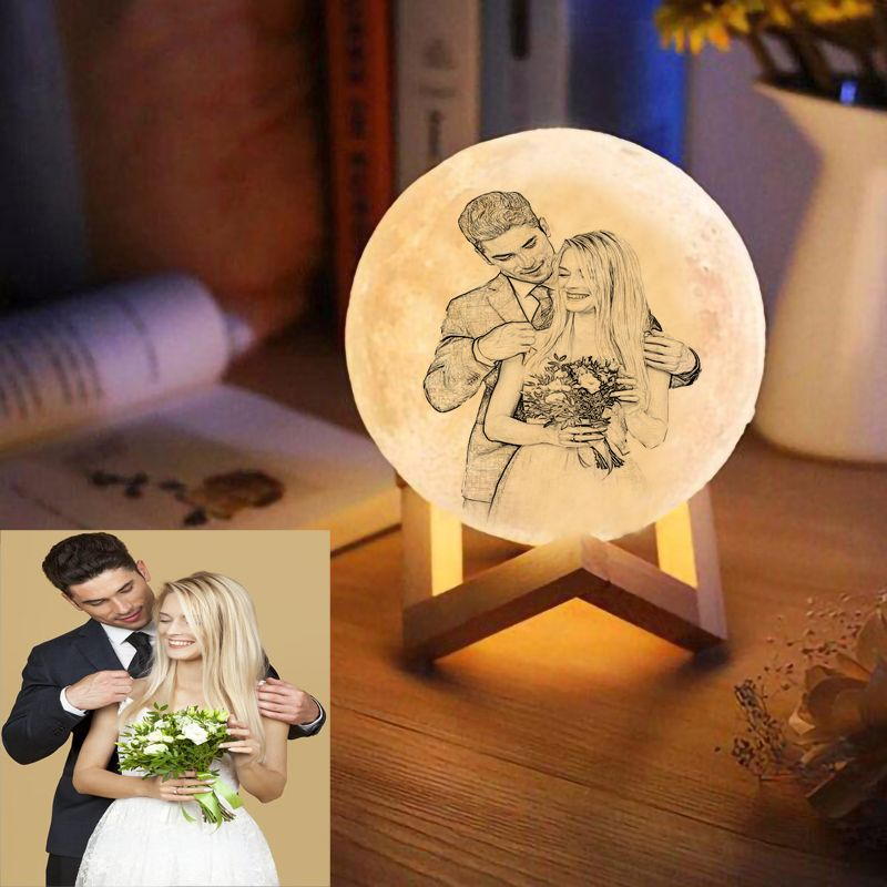Magical Love You To The Moon And Back Luna Moon Lamp Features Love Wordings Photos Engraving On An Elegant 3d Moon Night In 2020 Photo Lamp 3d Photo Photo Engraving