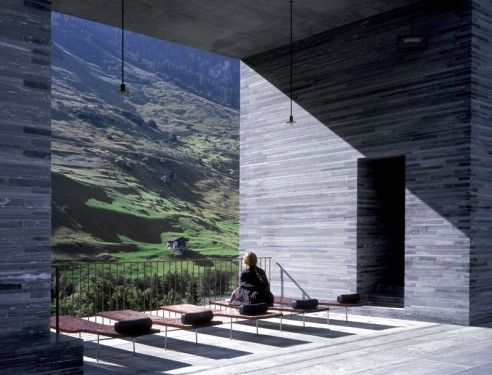 zumthor 39 s primary material palette is selected with a poetic sensitivity and consideration for. Black Bedroom Furniture Sets. Home Design Ideas