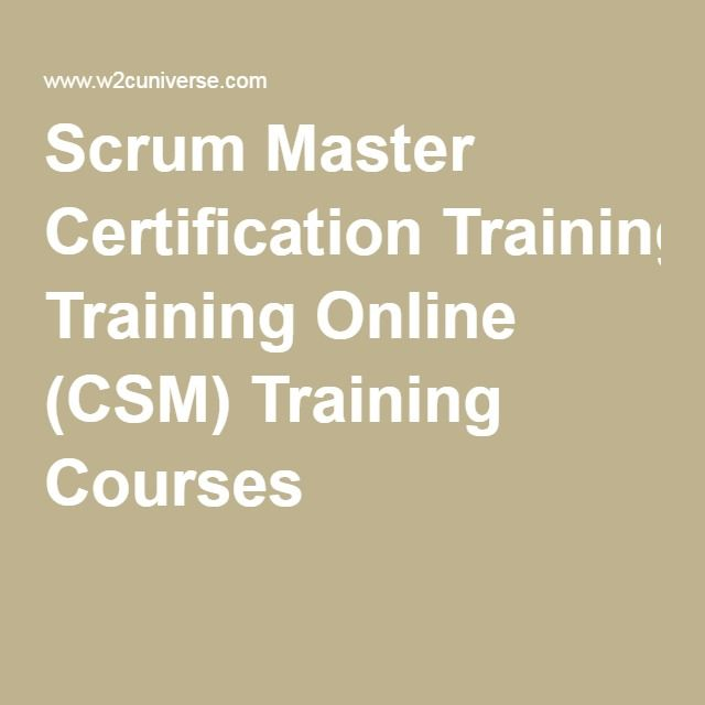 Scrum Master Certification Training Online (CSM) Training Courses ...