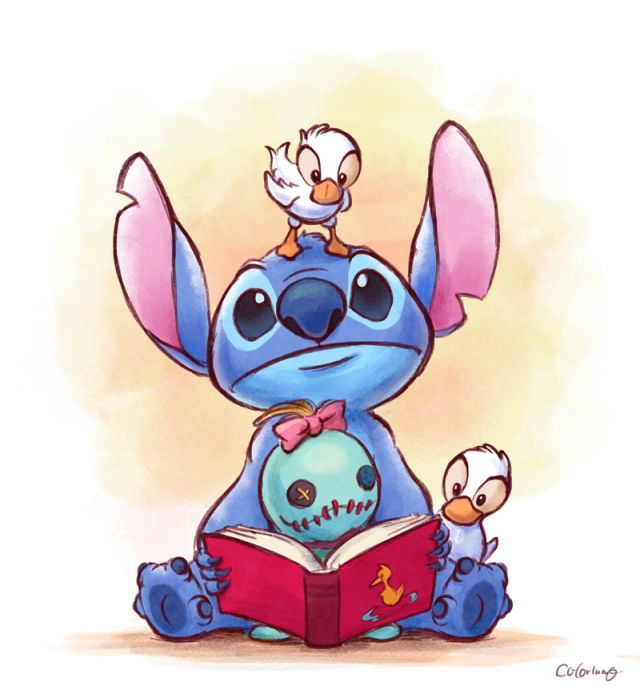 Stitch And Scrump And Duck By Colorlumo Sketch Dibujo De Stich