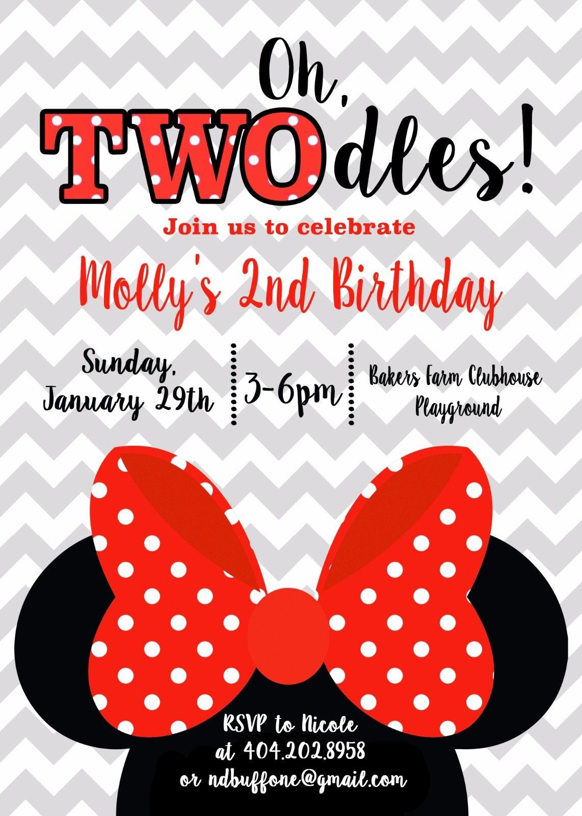 Greeting Cards and Invitations 170098: Minnie Mouse, Twodles, Two ...