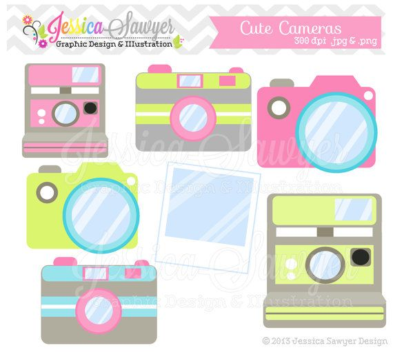 Camera cute. Instant download clip art