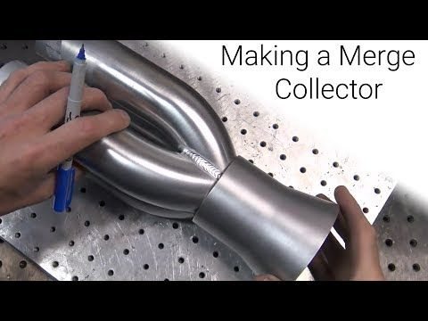 ⚡ TIG Welding Aluminum Fabrication ⚡ - Making a merge collector