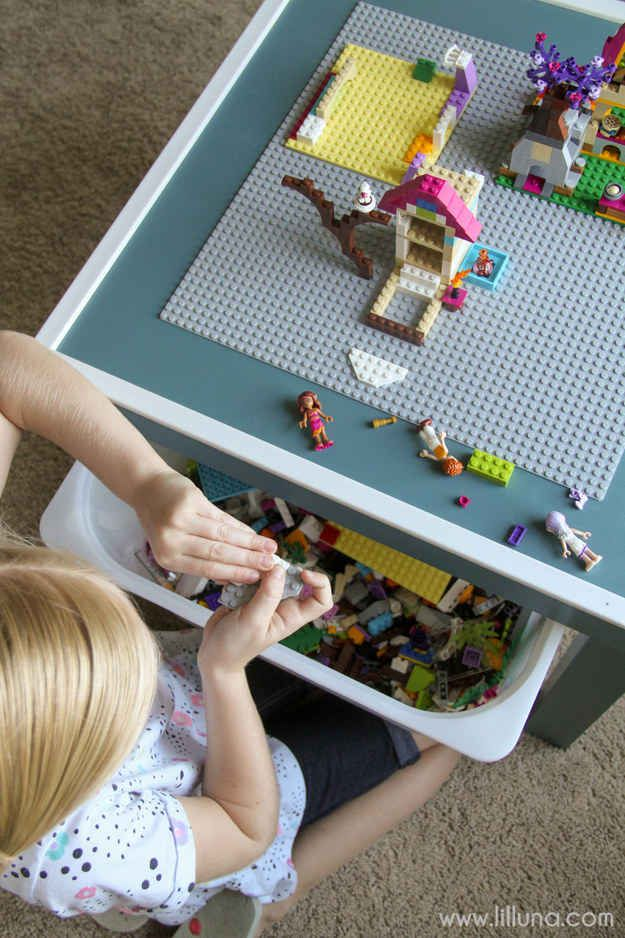 13 Ways To Up Cycle Furniture.Make A Kid Friendly Craft Station From A  Boring Side Table.