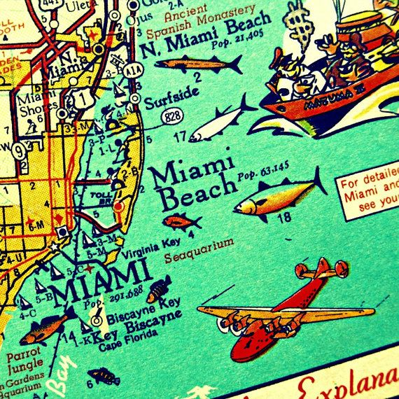 miami i;ands map art - Google Search