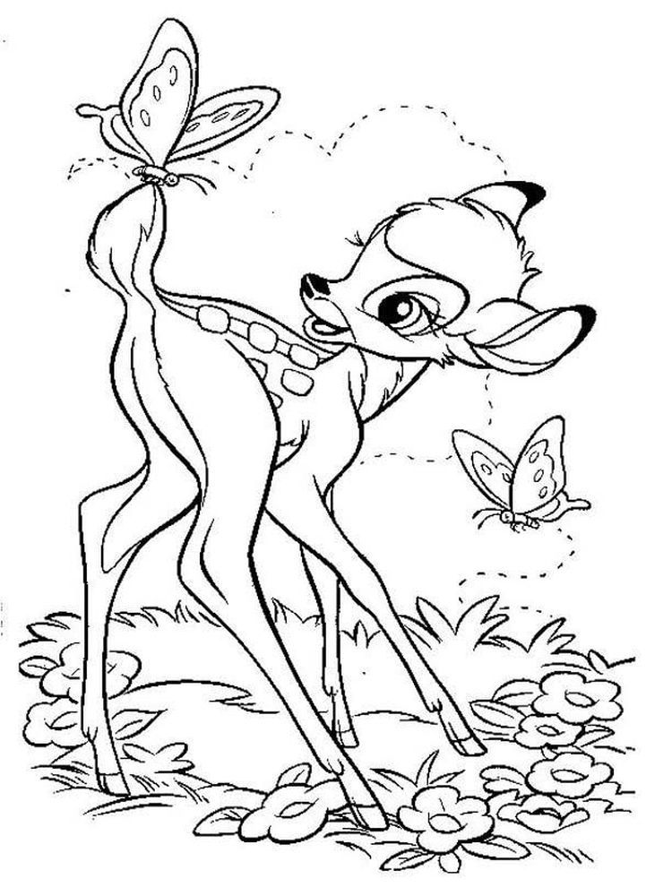 Bambi Characters Coloring Pages Bambi Is An Animated Film Made By Disney Which Was Lifted F Horse Coloring Pages Cartoon Coloring Pages Disney Coloring Pages