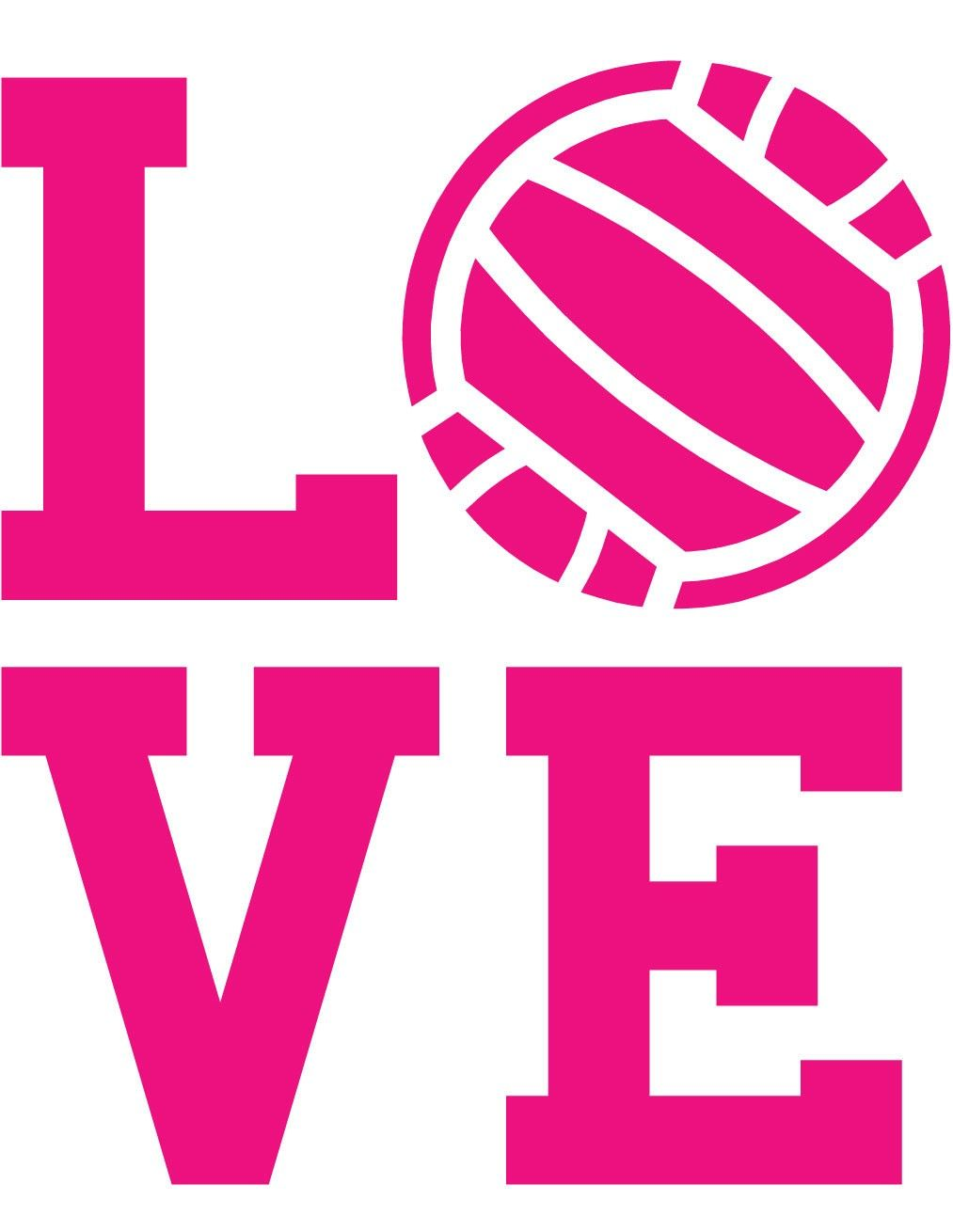Volleyball Clip Art Love Volleyball Wall Decal Volleybal Netbal Sport