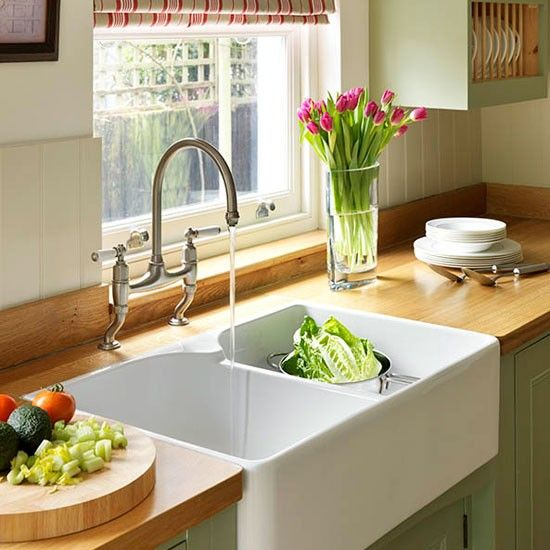 Kitchen Sinks Ottawa Step inside this traditional muted green kitchen green kitchen sink area step inside this traditional soft green kitchen reader kitchen photo gallery beautiful kitchens housetohome workwithnaturefo
