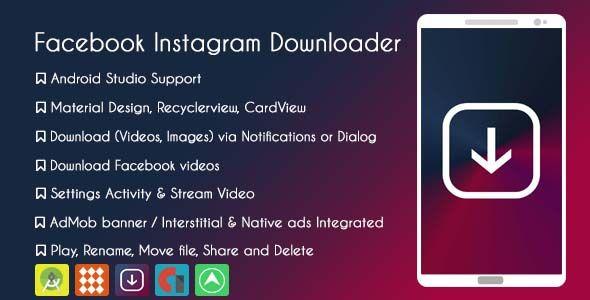 Facebook Instagram Downloader - AdMob & GDPR | Videographer