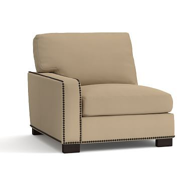 Turner Square Arm Uph Sectional Down Twill L Armchair W Nh