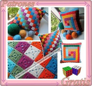 Delicadezas en crochet gabriela patr n para dise o de - Mantas ganchillo colores ...