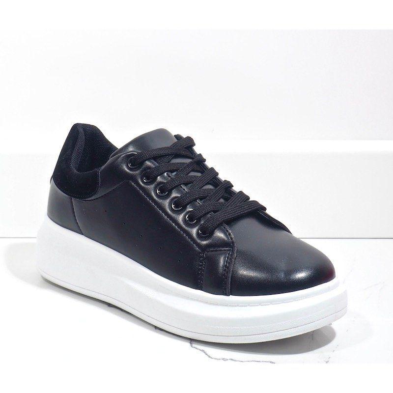 Czarne Trampki Na Grubej Podeszwie 7935 Sp High Top Sneakers Shoes Sneakers