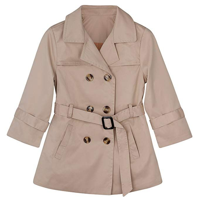 5830b6e4b CARETOO Kids Baby Girl Spring Autumn Trench Coat Double-Breasted ...