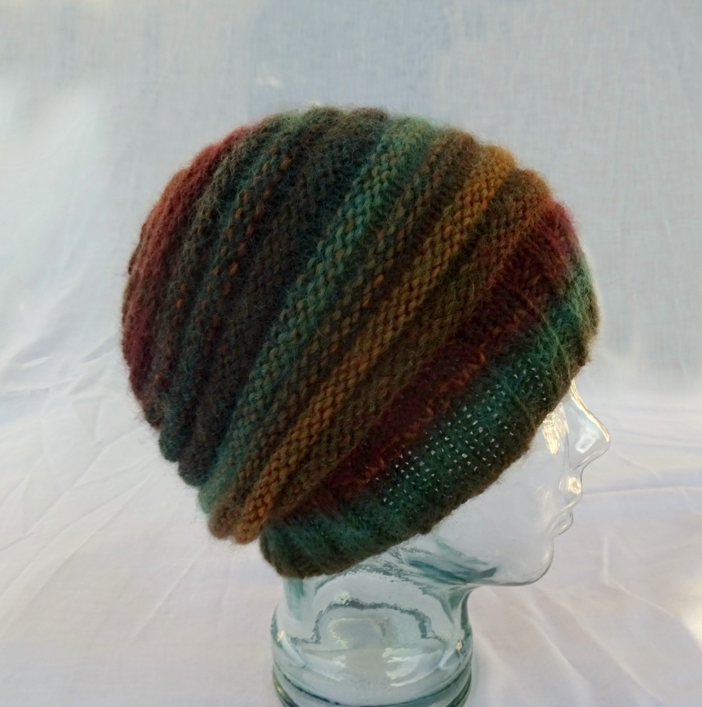 cd88ef37b4f Knit Striped Hat Banded Slouchy Hat