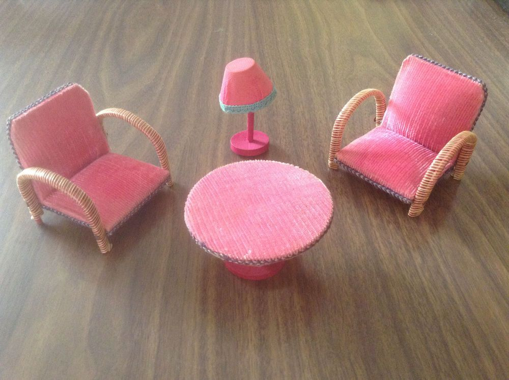 1950s vintage dolls house furniture set - living room set | Vintage ...