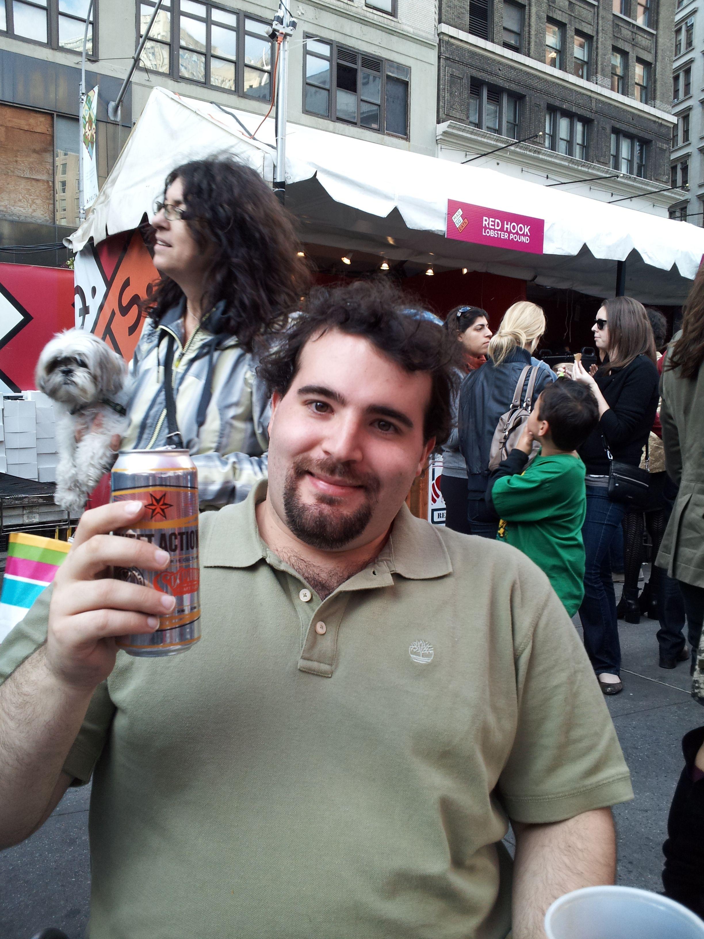 Enjoying a beer at madison square park eats one of nycs