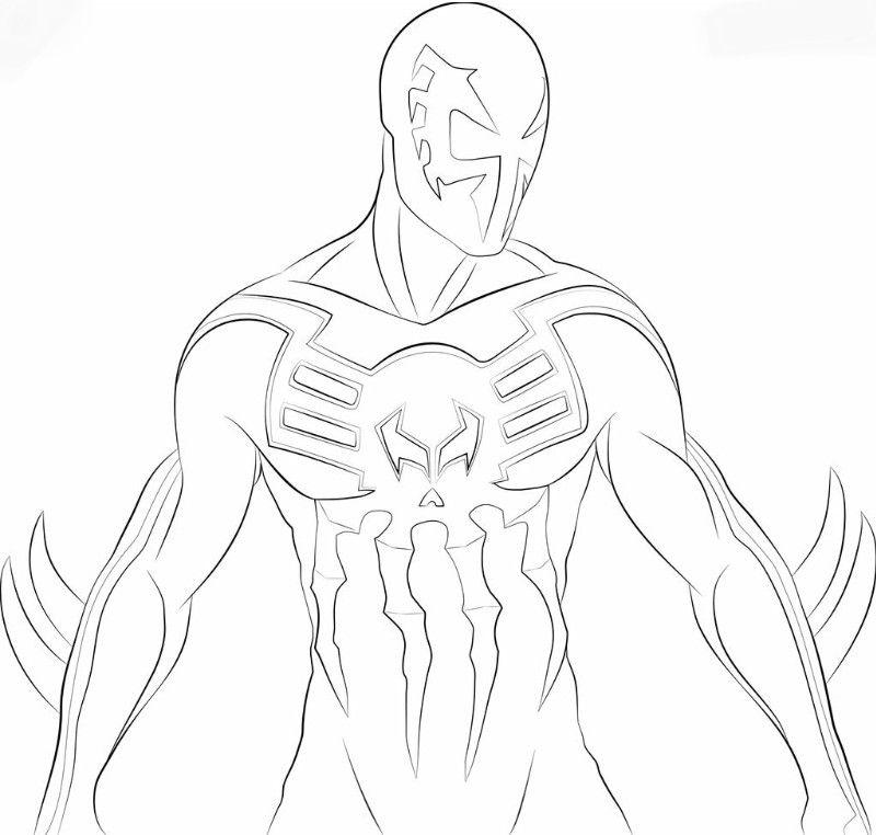 Spiderman 2099 Coloring Pages Spiderman Dibujos Palabras Con M