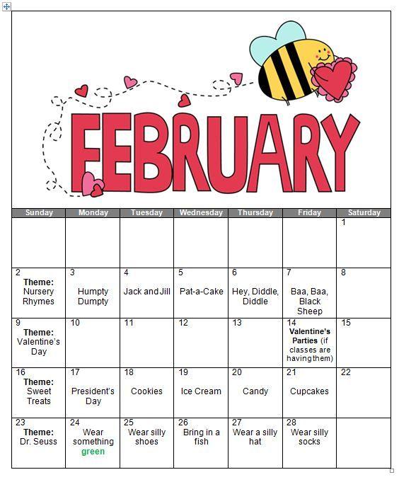 preschool calendars | Preschool February Calendar ...