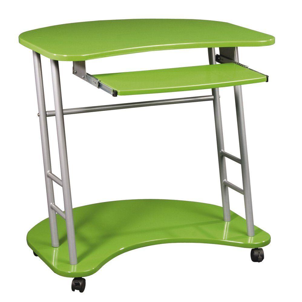 Unique Design Green Computer Cart Wheels Interior · Computer CartOffice  Computer DeskComputer ...